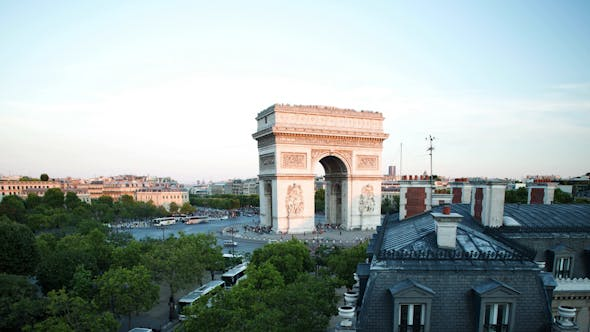 Thumbnail for Arc Du Triomphe At Sunset, Paris France