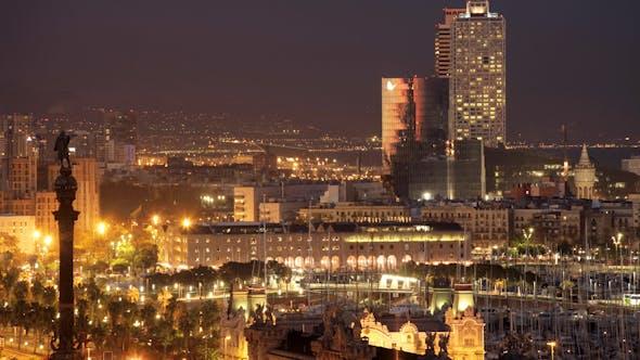 Thumbnail for Barcelona Night Cityscape 03