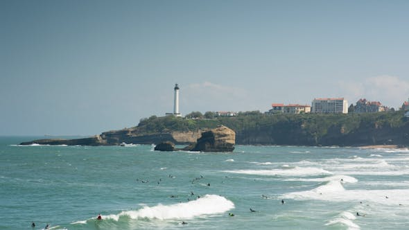 Thumbnail for Biarritz France City Surfers Sea