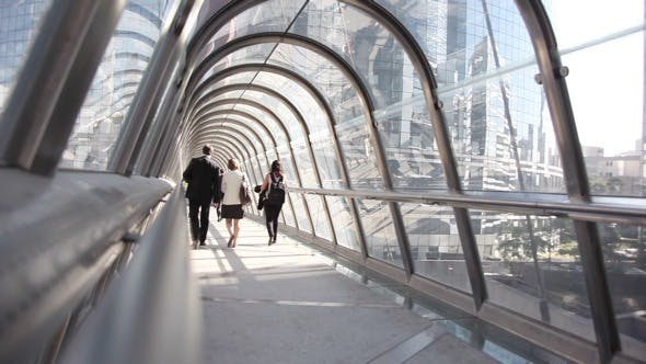 Thumbnail for Paris, La Defense, a Pedestrian Bridge