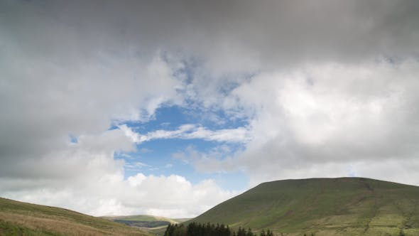 Thumbnail for Brecon Beacons Wales Timelapse Field Countryside
