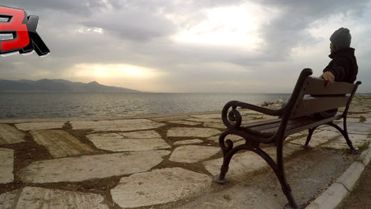 Thumbnail for Man on a Seat near the Sea 1