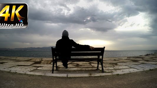 Thumbnail for Man on a Seat Near the Sea 2