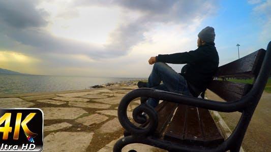 Man on a Seat near the Sea 3