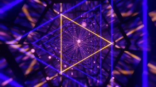 Triangle Neon Tunnel