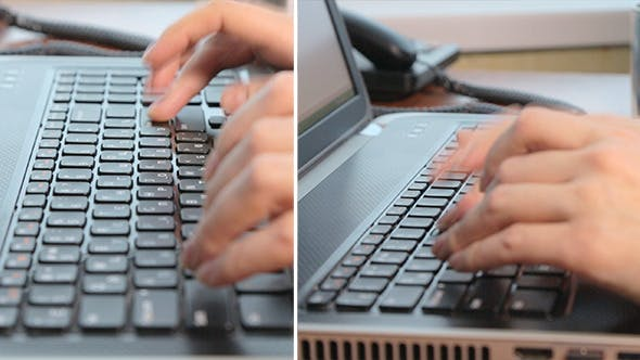 Thumbnail for Woman Typing on the Laptop