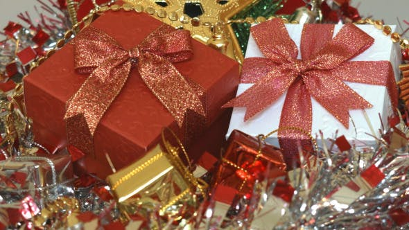 Thumbnail for Gift Box And Christmas Decoration 08