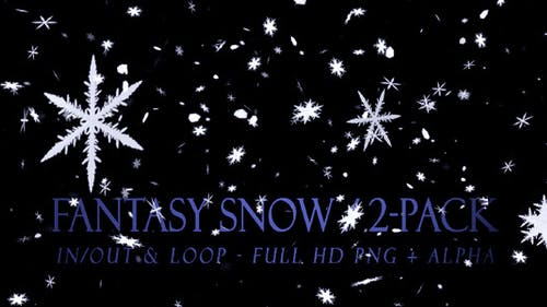 Fantasy Snow - Pack of 2