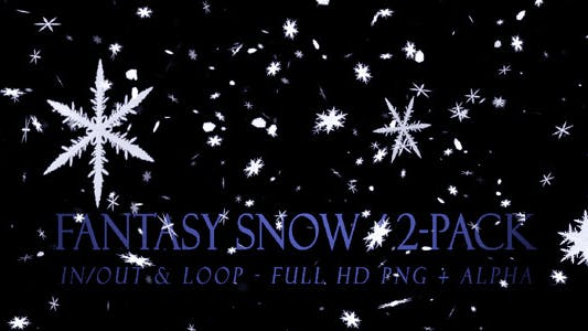 Thumbnail for Fantasy Snow - Pack of 2