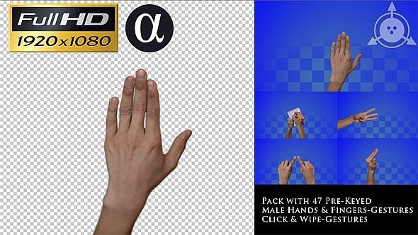 Thumbnail for Male Professional Touch Gestures - [47-pack]