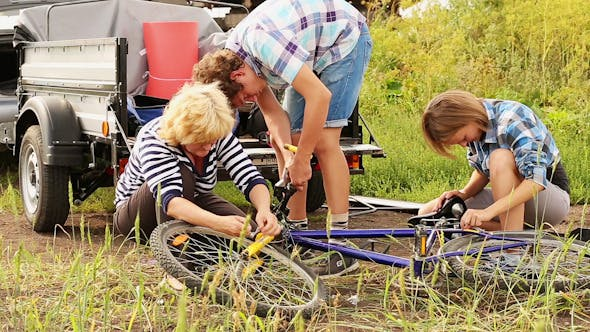 Thumbnail for People Repairing a Bicycle 3
