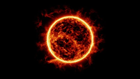 Thumbnail for Sun Surface With Solar Flares