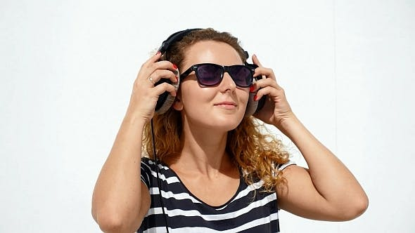 Thumbnail for Woman in Professional Headphones