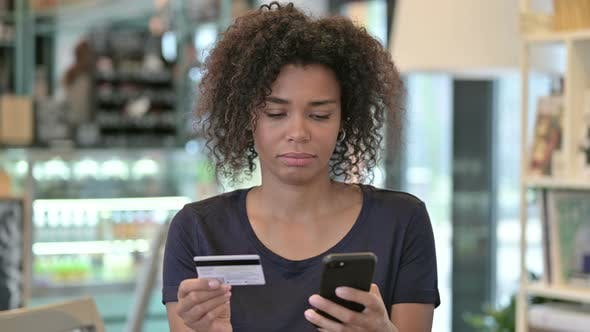 Thumbnail for Portrait of Online Payment Failure on Smartphone By African Woman