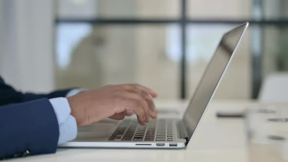 Thumbnail for Hands of Businessman Typing on Laptop Close Up