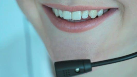 Smiling Customer Support Representative