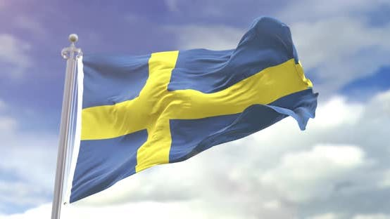 Thumbnail for Realistic Sweden Flag Slow Motion 4K