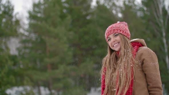 Cover Image for Lovely Girl Enjoying Winter