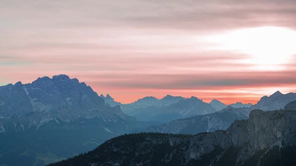 Thumbnail for Unusual Colors of Dawn over the Mountains
