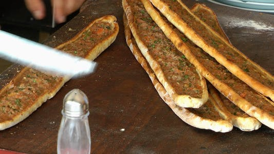 Thumbnail for Turkish Pizza Pita Cut