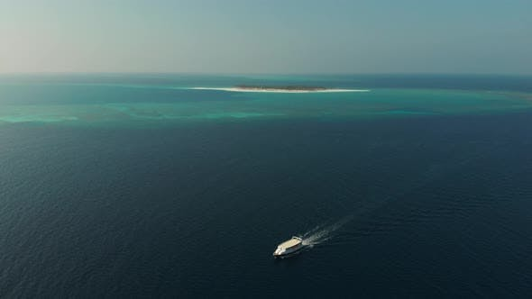 Speedboat in the Maldives