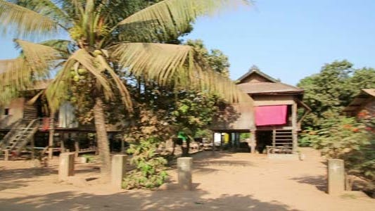 Thumbnail for Cambodian Tranquil Village Houses In Rural Life 1