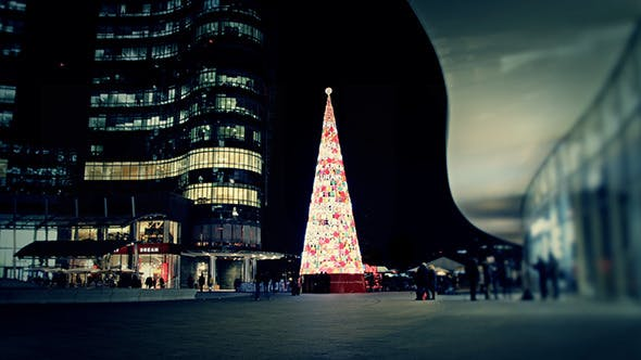 Thumbnail for Modern Christmas Tree in the City
