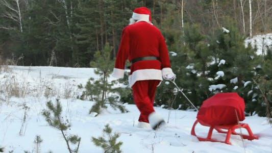 Cover Image for Santa pulling sled