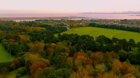 Thumbnail for Aerial view over St. Anne Park in Dublin city