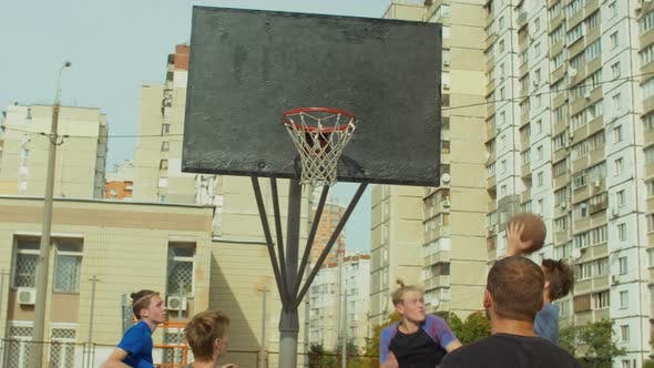 Thumbnail for Streetball Player Scoring Points After Rebound