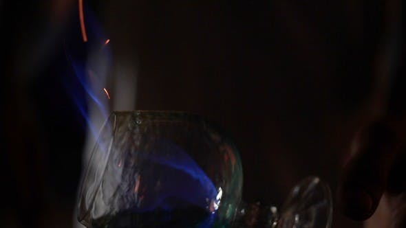 Thumbnail for Barmen Ignites Alcohol Cocktail