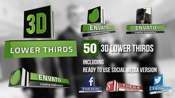 Thumbnail for Tercios inferiores 3D (50 Artículos)
