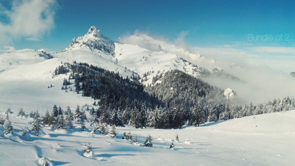 Cover Image for Flying Over the Mountains in the Winter