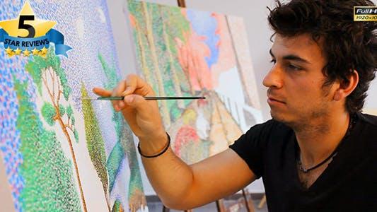 Thumbnail for Artist Paints Pict