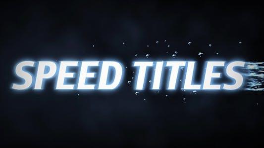 Thumbnail for Titres de vitesse