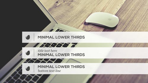 Minimalist Lower Thirds Template