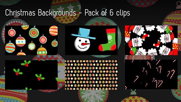 Thumbnail for Christmas Backgrounds - Pack Of 6