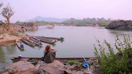 Lao Cambodia Border Mekong River
