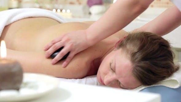 Thumbnail for Woman Enjoying Stone Therapy