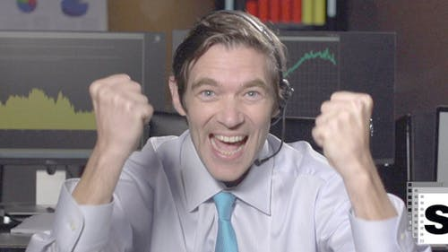 Very Excited Businessman