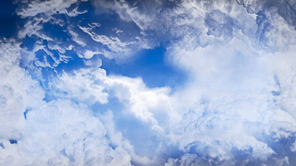 Thumbnail for Sky Flying Through Clouds Animation