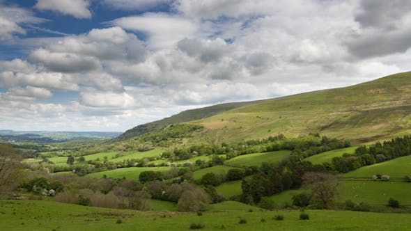 Brecon Beacons Wales Field Countryside
