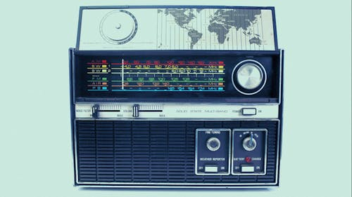 Vintage Radio Dial Frequence