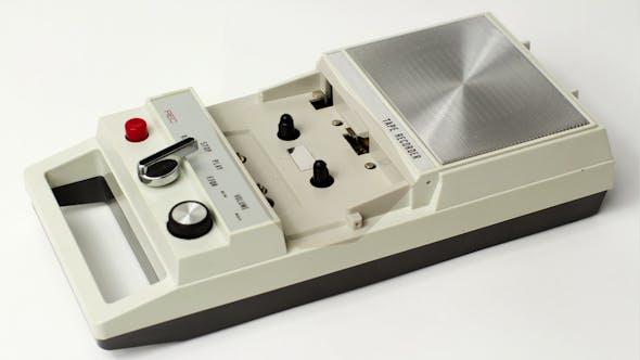 Cover Image for Vintage Tape Recorder Cassette