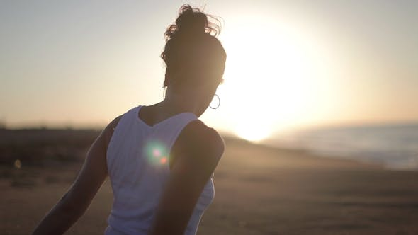 Thumbnail for Yoga Girl Beach Sunrise Helathy Lifestyle 1