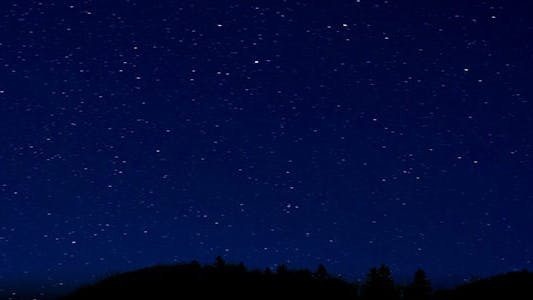 Thumbnail for Night Stars Sky with Mountain Peaks
