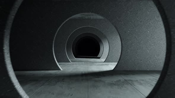 Thumbnail for Endless Flight in a Gray Concrete Tunnel