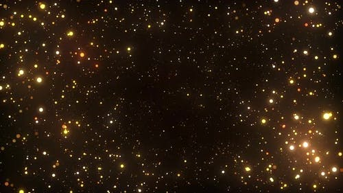 Gold Particles 4K