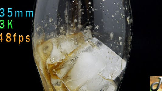 Thumbnail for Pouring Soda Into Glass With Ice