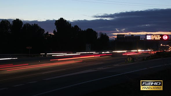Thumbnail for Highway Traffic Cars at Sunset